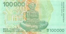 Croatia  100 000 Dinara  30.5.1993  P 27a  Series B circulated Banknote SW