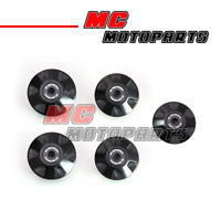 Black CNC Billet Frame Plugs Kit For Ducati 996 / S / R 1999-2003 99 00 01 02 03