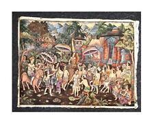 Large Balinese Painting of Wedding