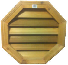 Wood Louver Gable Vent Octagon Shape Cedar Attic Siding Ventilation NEW