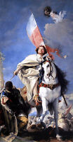Huge Oil Giovanni Battista Tiepolo - St James the Greater Conquering the Moors