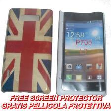 Pellicola+custodia BACK COVER UK FLAG VINTAGE per LG Optimus L7 P700
