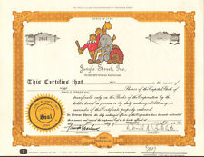 Jungle Street >  early internet company stock certificate > Wenatchee Washington