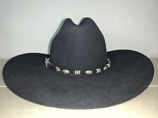 Resistol Self-Conforming 4Xxxx Beaver Black Long Oval Hat 6-3/4 L Silver Hardwar