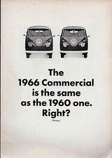 VOLKSWAGEN TRANSPORTER 1500 schermo diviso UK 1966 vendite sul mercato opuscolo