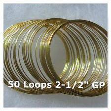 Memory Wire Steel Gold Plated 50 Loops Bracelet Jewelry Craft Findings