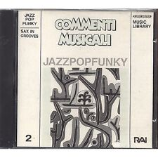 JAZZ POP FUNKY - SAX IN GROOVES PIERO CAIRO ALBERTA MAFFI GABRIELE COMEGLIO CD