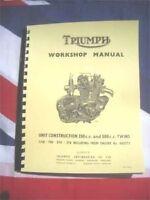 Shop Manual Fits 1967 Triumph T100r Daytona Tiger Trophy 500  T100