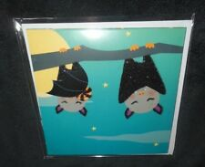NEW HAPPY HALLOWEEN CANDY BATS TRICK OR TREAT GLITTER POP-UP 3-D GREETING CARD