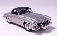 H0 BREKINA Mercedes Benz 190 SL W 121 BII Cabrio silber metallic # 38793