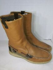 Sperry Top-Sider Boots 9616707 Mid Calf Pull On Suede Leather Size 8.5 M Brown