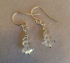 Brilliant Herkimer diamond earrings, .925 silver French wires or Leaver backs
