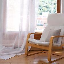 Leinen Gardine - Vorhang - Leinenvorhang - Farbe Weiss -transparent 140 x 300 cm