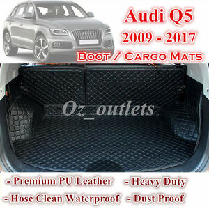 Tailor Made PU Leather Boot Liner Cargo Mats Cover fits for Audi Q5 2009 - 2017