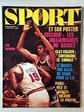 SPORT ET SON POSTER N°6 17 MARS 1971 LEW ALCINDOR // CLAY - FRAZIER