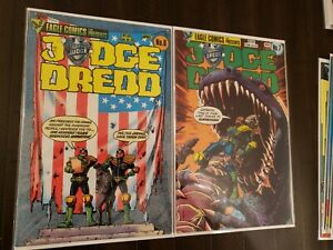 Judge Dredd Lot of 18 Book #6-15, 17-20, 25-26, 1984 Eagle Comics, Brian Bolland