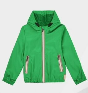Hunter Original Shell Jacket Water Resistant Green Kids Unisex Age 11-12 Years