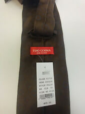 Tino Cosma Tie Brown with Blue Circles Brand New with Tags $95