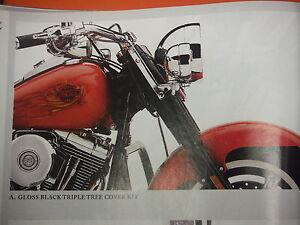 HARLEY-DAVIDSON NOS GLOSS BLACK TRIPLE TREE COVER KIT-SOFTAIL
