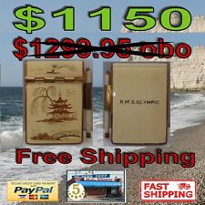 White Star Line RMS Olympic Oriental Enameled Note Pad w/ Pencil  1910-1935