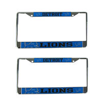 Brand New 2pc Set NFL Detroit Lions Car Truck Metal License Plate Frames