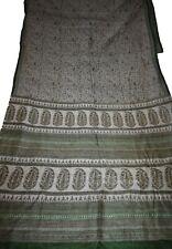 Vintage Printed Saree White Pure Silk Floral Print Sari Design Craft Fabric