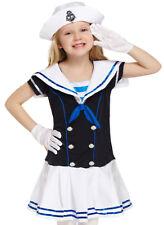 Matrosen Mädchen Kostüm Sailor Seefahrt Faschingskostüm 7-9 Jahre Gr.122/134