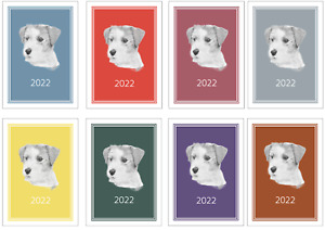 Jack Russell Terrier 2022 A5 Week View Diary NORMAL/DOG SHOW DATES/APPOINTMENT