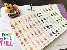PP191 -- Champagne Bottle Life Planner Stickers for Erin Condren (60pcs)