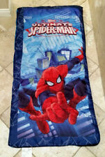 "EUC Ultimate Spiderman Sleeping Bag Red/Blue 28""x56"" w Backpack"