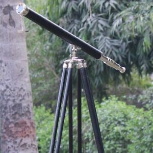 39 inch Telescope Chrome with Black Leather Telescope Singal Barral With Stand