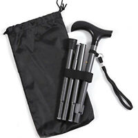 Hot Folding Cane Carrying Bag Walking Cane Stick Carrying Pouch Bags Black New