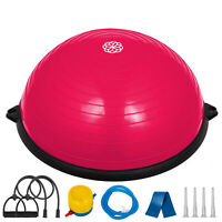 "New 23"" Yoga Balance Trainer Yoga Half Ball w/Pump ABS base with 6 anti-skid pad"