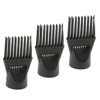 3x Hair Styling Salon Hair Dryer Diffuser Wind Blow Cover Comb Attachment