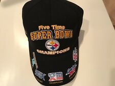 Pittsburgh Steelers Reebok 5x Time Super Bowl Champions Adjustable Cap Hat
