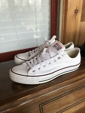 ebe960edfe7 Men s White Chuck Taylor All Star Low Top Shoes Sneakers Sz 11