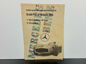RARE! Vintage 1955 Original MERCEDES BENZ German GRAND-PRIX Race Car POSTER ART