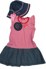 RHUBARB Girls Dress * ONE RED FLY Sun Hat * Red Navy White * Size 5 - 6 . $76
