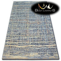 """NATURAL WOOL AGNELLA RUGS marine abstract """"ISFAHAN"""" thick and durable carpet"""