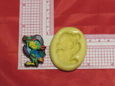 Bird Pirate Parrot Silicone push Mold A54 For Fondant Resin Clay Cake Pop Candy