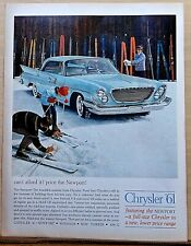 1961 magazine ad for Chrysler - Newport and skiers, Beautiful surprise