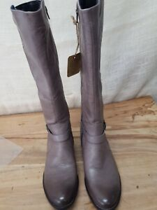 BORN F71122 COSNA  Women's Leather Tall Casual Riding Boots US 8M Gray NEW