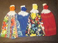 (4) Set Pioneer Woman Crochet Top Kitchen Towels Fiona Floral Farm House Decor