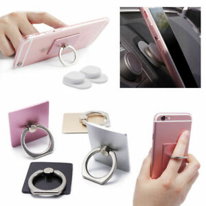 360 Rotation Cell Phone Ring Stand Holder iPhone Galaxy Android-Square / Holder