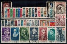 timbres France n° 1008/1049 oblitérés année 1955 complète