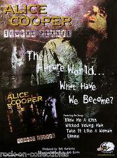 Alice Cooper 2000 Brutal Planet Original Promo Poster