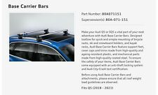 Audi Q5 SQ5 Base Carrier Bars/Roof Racks, Fits 2018-21, New OEM 80A071151
