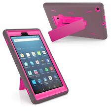 """Dual Hybrid Shockproof Rugged Case For Amazon Fire HD 8 8"""" Tablet 7th Generation"""
