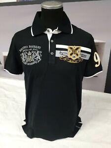 BRUNO BANANI Herren Polo Shirt | Not For Everybody | BBP 8 | schwarz-silber | M
