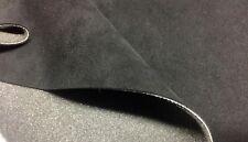 ORIGINAL Alcantara Stoff SCHWARZ Cover mit 2mm Schaumstoff Rücken 145cm breit!